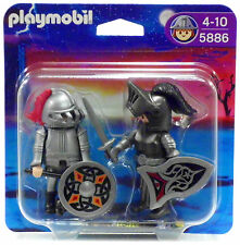 BLISTER DUO PACK IRON KNIGHT Playmobil 5886 v.`10 Knight's Castle Tower