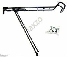 Bicycle cycle rear pannier rack carrier steel 26 27 mountain bike luggage BLACK