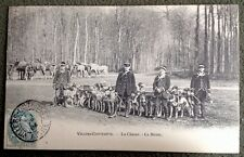 CPA. VILLERS COTTERETS. 02 - CHASSE. MEUTE. CHIENS. CHEVAUX. 1904.