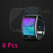 6 Pcs Crystal Clear Screen Protector Shield Saver Film For Samsung Galaxy Gear S