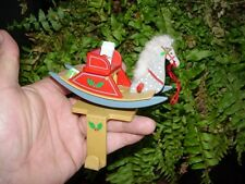 Old Fashioned Rocking Horse - HALLMARK Christmas STOCKING HANGER