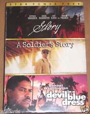 STAR POWER PACK GLORY/A SOLDIER'S STORY/DEVIL IN A BLUE DRESS (1998) **NEW DVD**