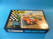 Scalextric French set 60, Blue Aston and Green Ferrari,  mint