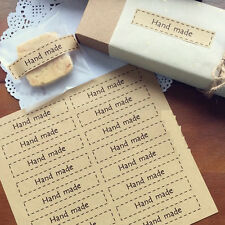 "80Pcs ""Hand made""  Label Envelop Seal Sticker For Weeding Party Gift Bag Decor"