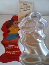 1978  Mickie Mouse Wilton Cake Pan Vtg Aluminum Insert Instructions Full Body