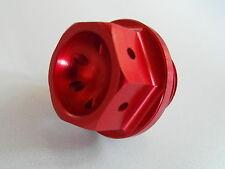 Kawasaki ZX10R 06 07 08 09 10 11 12 13 14 15 16 Tuerca relleno aceite 08A rojo