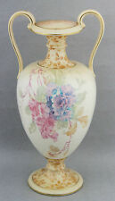 Antique Royal Doulton Vase Urn Floral Burslem ca.1895 Vintage