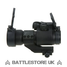 M2 Red Dot Vista NERO CON KILLFLASH! Cantilever AIRSOFT TACTICAL portata UK
