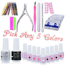 Ukiyo Any 5 Colors UV Gel Nail Polish Top Base Coat Gel Remover Manicure Kit Set