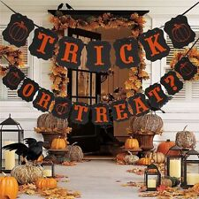 Halloween TRICK OR TREAT Silhouette String Banner Home Garden Party Decoration
