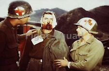 WW2 Photo US MEDIC with M1 HELMET 1944 #579