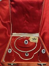 LUXURIOUS ALEXANDRITE DIAMOND JEWELRY SET, PRINCESS ALEXANDRA, RUSSIA, 925 SS
