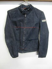 vtg Diesel Industry Denim Jean Jacket lightweight full zip dark wash sz L