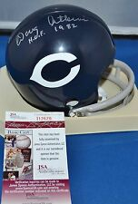 DOUG ATKINS AUTO TWO BAR THROWBACK MINI HELMET CHICAGO BEARS HOF 1982 JSA