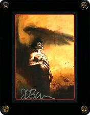 THE CROW EMBOSSED INSERT TRADING CARD 9 SIGNED BY ARTIST JAMES O'BARR