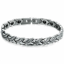 Women Ladies Titanium Stainless Steel Magnetic Germanium Bracelet Bangle Gift