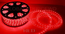 "150"" FEET LED Rope Lights RED COLOR 1/2"" /13MM 1656 LEDs With Accessories"