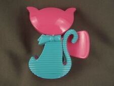 "Pink Aqua cat kitten kitty plastic 3"" long barrette hair clip claw clamp kawaii"
