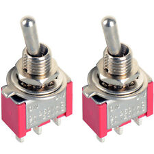 2Pc 3-Pin Mini Toggle Switch SPDT On-On MTS-102 Miniature Toggle Switch OT8G