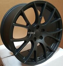 20x9 Rims Satin Black Wheels Hellcat Style Fit Challenger Charger 300C Magnum 22