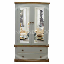 HANDMADE DEWSBURY COUNTRY WARDROBE MIRRORED (ASSEMBLED)
