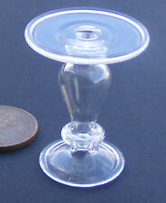 1:12 Scale Clear Fine Glass Cake Stand Doll House Miniature Food Accessory G16c