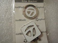 Brand New TaylorMade Magnetic clip Hat/Cap Ball Marker.!! White Color!!