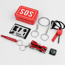 Outdoor Camping Hiking Survival Emergency Kit Self-help Box SOS Equipment
