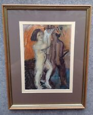 Watercolour of 'Pair of Nude People' Framed and Glazed. Modern.