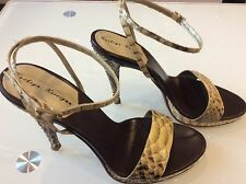 Kathryn Kerrigan Women' Snakeskin natural Leather Sandals size 39/9 $ $ 69.00