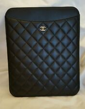 $795 NEW CHANEL BLACK  Quilted  CC Logo iPad Case AUTHENTIC