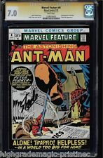 MARVEL FEATURE #4 CGC 7.0 WHITE PAGES STAN LEE SS SIGNED ANT-MAN CGC #1206550030