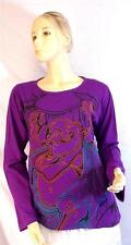 FAIR TRADE GRINGO ETHNIC HIPPY FESTIVAL BUDDHA DESIGN LONG SLEEVE TOP M/L