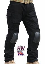 AIRSOFT EMERSON GEN 2 PANTS TROUSERS BLACK WITH KNEE PADS 30-32 CRYE STYLE SWAT
