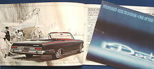 Prospekt brochure 1963 Dodge Polara * Dodge 440 * Dodge 330 * Station Wagons USA