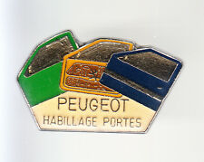 RARE PINS PIN'S .. AUTO CAR PEUGEOT USINE HABILLAGE PORTES ~BJ