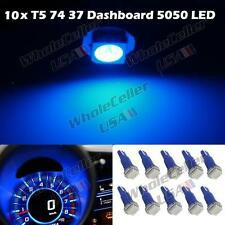 10 Blue Led Bulbs T5 70 73 74 For Toyota Instrument Dashboard Gauge Speedo Light