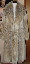 Beautiful Canadian Lynx Fur Swing Coat /Jacket SIZE- S / M  70' SWEEP