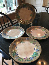 Tracy Porter The Claret Collection Grapes Dream Delicious Dinner Plates Set of 4