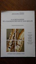 Alto sassofono classica. Jean-Marie LONDEIX
