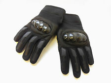 NEW PAIR OF MENS' BLACK COMBAT TACTICAL GLOVES HARD KNUCKLE ARMY/SECURITY/BIKER