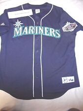 Seattle Mariners Ichiro Suzuki Majestic 2001 All Star Game Patch Jersey Size XL