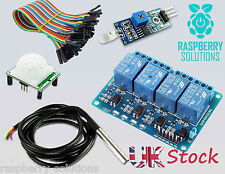 Raspberry Pi Kit | Relay | Temperature Probe | Light Sensor | Pir Sensor