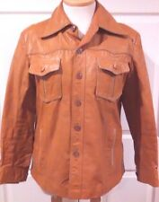 Vintage Men's Western Pioneer Leather Jacket Size 44 Genuine Leather WPL 12376