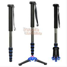 65''Carbon Fiber Trip Monopod with Folding Three Feet Stand Ball Head for Camera