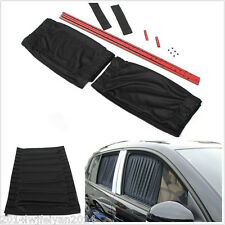 2x Black Adjustable VIP Car Window Windscreen Mesh Style Curtain Sun Shade Visor