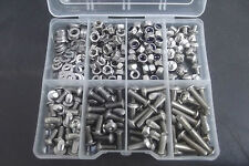 300 Pc M5 Socket Button Machine Screw, Nut & Washer Kit.  A2-70 Stainless Steel.