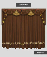 Saaria HDCWV-120 School Stage Hall Drapes Velvet Traditional Curtains 10'W x 8'H