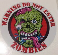Zombie Warning Sticker Decal bio-hazard horror car truck 4x4
