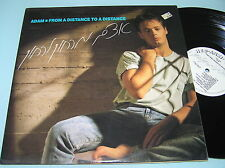ADAM - FROM A DISTANCE TO A DISTANCE Rare ISRAELI 1988 HEBREW LP + INSERT N MINT